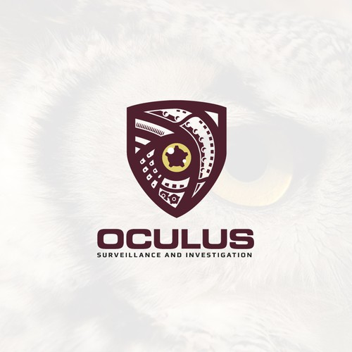 Security brand with the title 'Oculus surveillance logo'