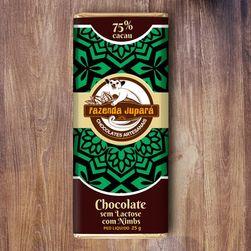 Cocoa design with the title 'Organic logo for artisan chocolate maker'