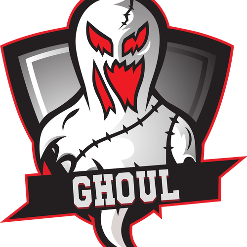 Team jersey logo with the title 'vectorized logo ghoul'