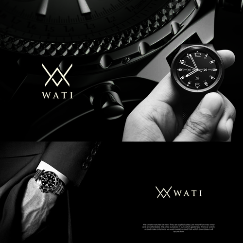 Watch logo with the title 'Men Watches logo'