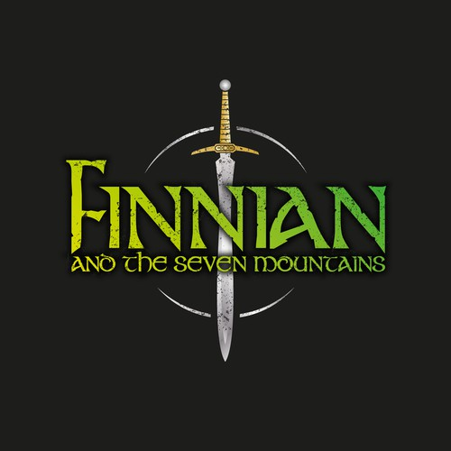 Novel logo with the title 'Finnian and The Seven Mountains'