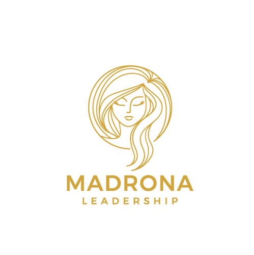 Woman logo with the title 'Madrona Leadership'