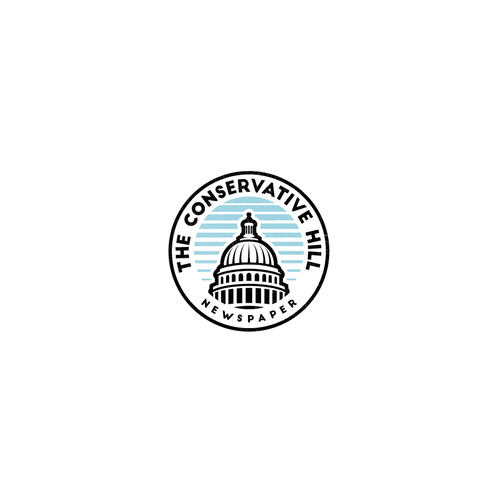 American vintage logo with the title 'Conservative Hill'