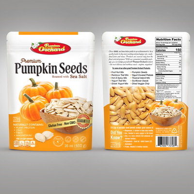 Premium Pumpkin Seeds, packaging design