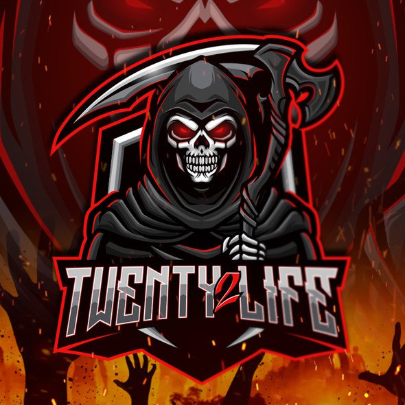 Reaper design with the title 'Twenty 2 Life'