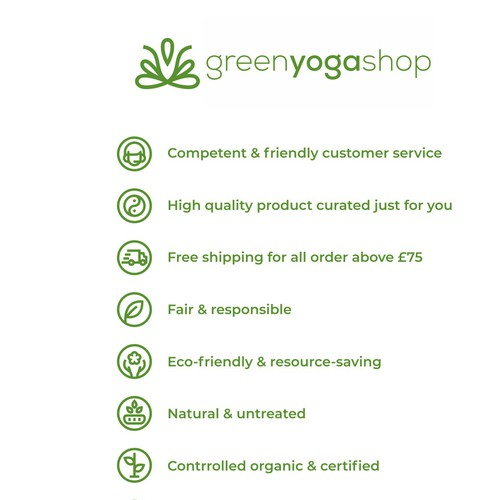 Natural artwork with the title 'greenyogashop icon refined'