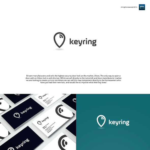 Bluetooth design with the title 'Keyring'