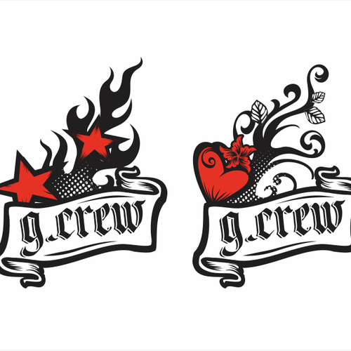 Tattoo illustration with the title 'G.Crew Tattoo Design'