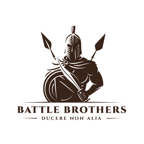 Fighter logo with the title 'Battle Brothers'