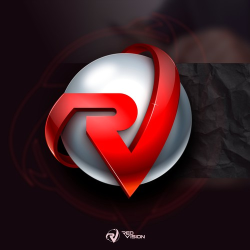 3D logo with the title 'Red Vision'