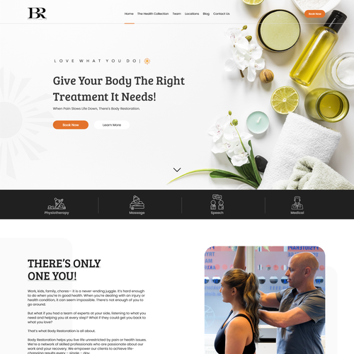 Spa website with the title 'Health Wellness'