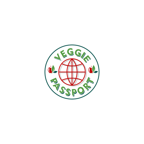 Passport logo with the title 'Veggie Passport'