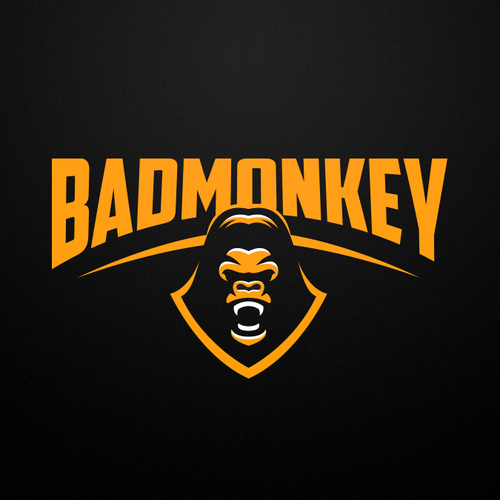 Emotional logo with the title 'BADMONKEY'