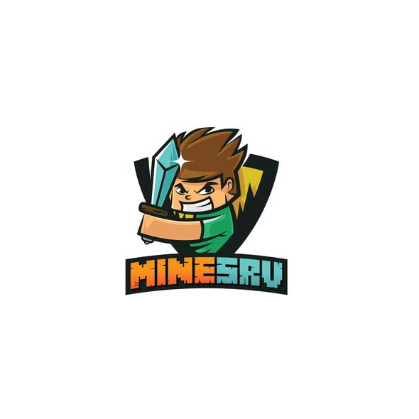 Server design with the title 'Minecraft Shield Design'