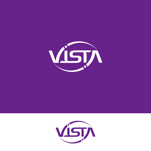 Ambigram logo with the title 'VISTA'