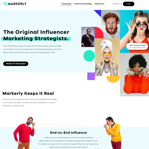 Picture design with the title 'Influencer marketing platform'