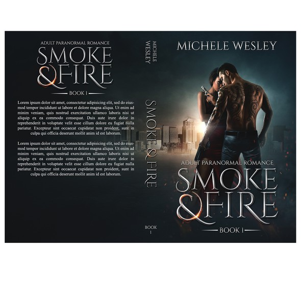 Urban fantasy book cover with the title 'Smoke And fire'