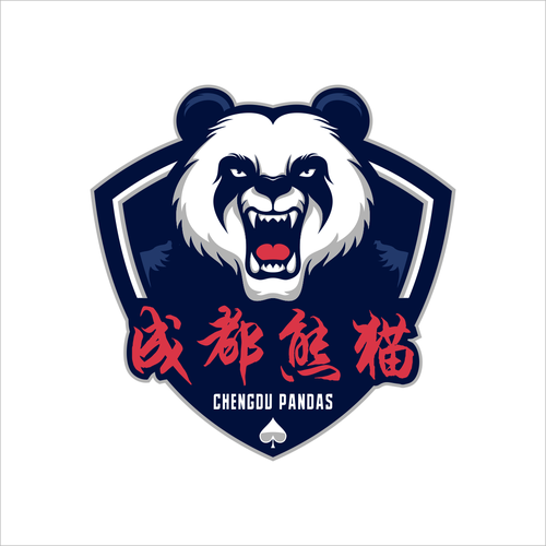 Panda logo with the title 'E-Sport Franchise logo : Chengdu Pandas'