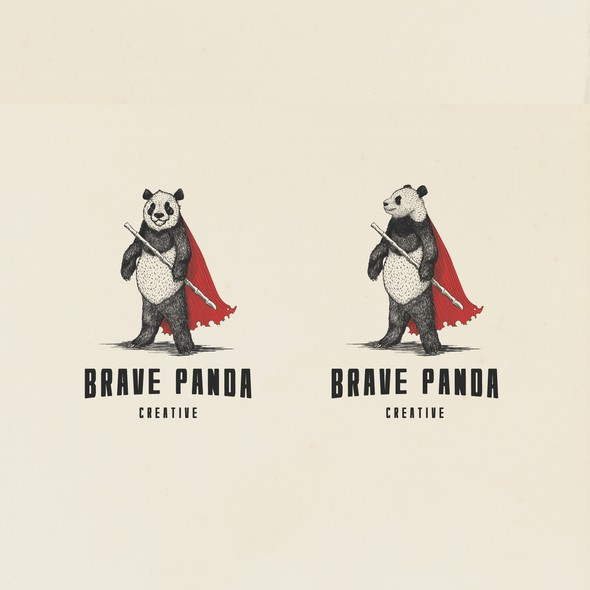 Brave logo with the title 'Brave Panda logo design'