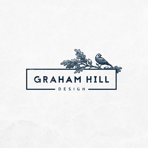 Hand-drawn brand with the title 'Graham Hill Design needs a logo to stand out from the crowd'
