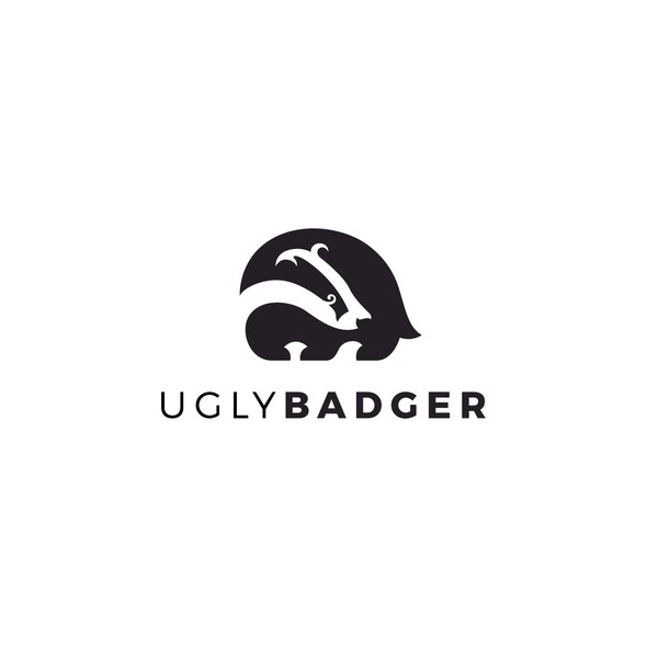 Badger logo with the title 'Ugly Badger'
