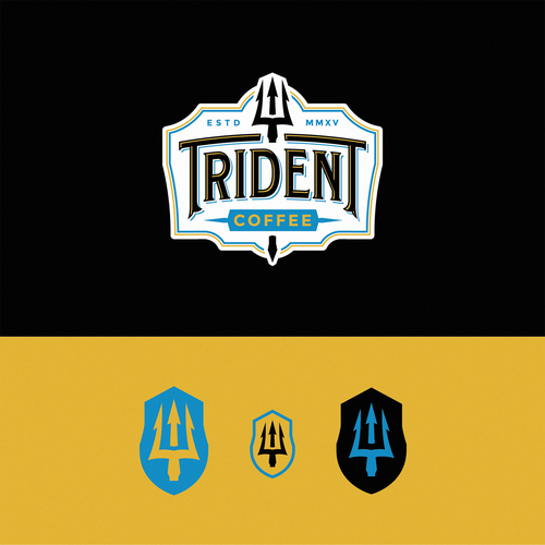 Shiva logo with the title 'Trident Coffee'