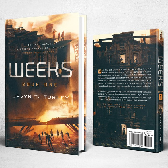 Zombie book cover with the title 'Weeks [1]'