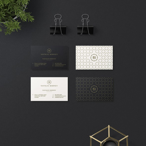 Black and white brand with the title 'Elegant Stationary Design for Natalie Barney '