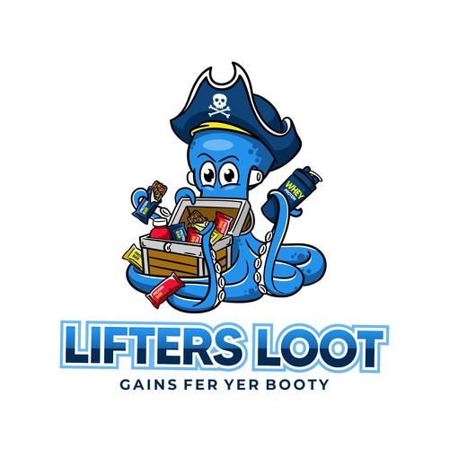 Treasure design with the title 'Mascot logo for subscription box'