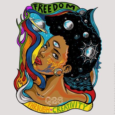 Afrofuturists Comic-inspired illustration