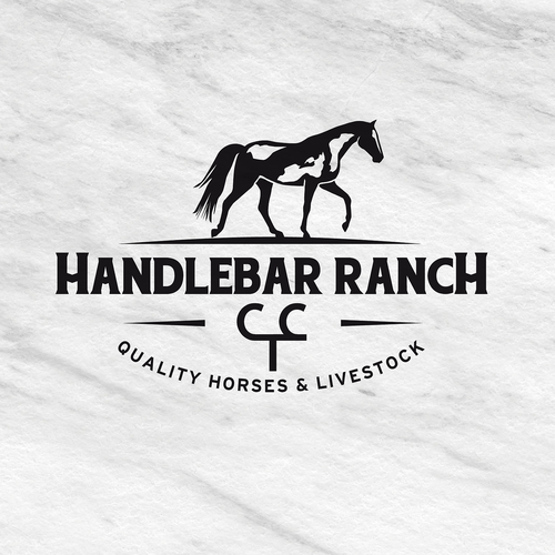 Ranch design with the title 'Ranch logo for horses and livestock'