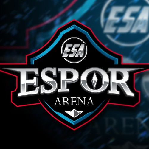 Red logo with the title 'ESPOR ARENA'