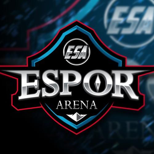 Silver design with the title 'ESPOR ARENA'