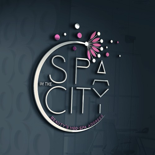 Spa logo with the title 'Logo for spa center'