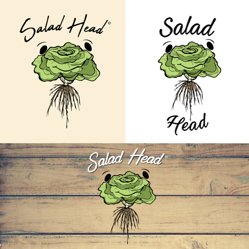 Lettuce design with the title 'Healthy Food Restaurant Brand '