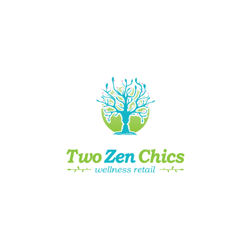 Tree design with the title 'Wellness Business logo for a Retail Store'