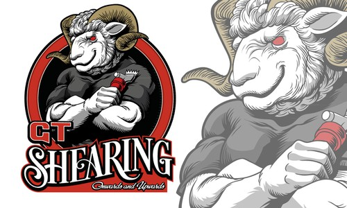Cartoon brand with the title 'GT Shearing'