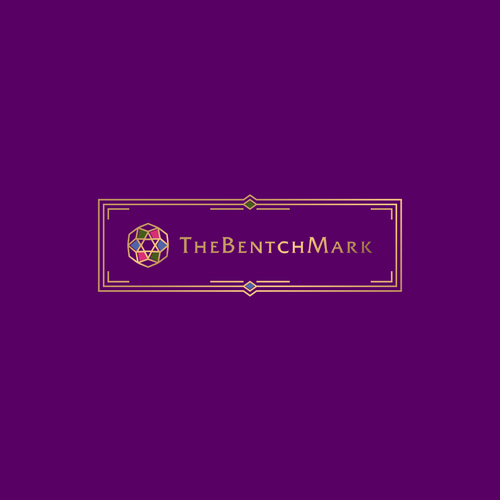 Purple logo with the title 'Logo for The BenchMark'