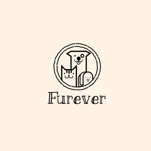 Pictogram logo with the title 'Furever Pet Products'