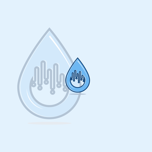 Aquatic logo with the title 'RAIN DROP'