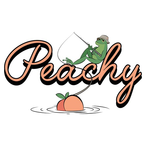 Lake illustration with the title 'Peachy'