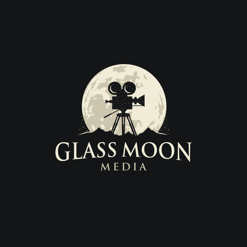 Film logo with the title 'Glass Moon Logo'
