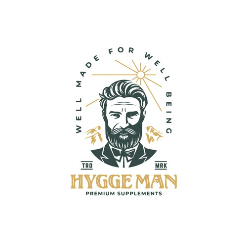 Masculine design with the title 'Logo for Hygge Man'