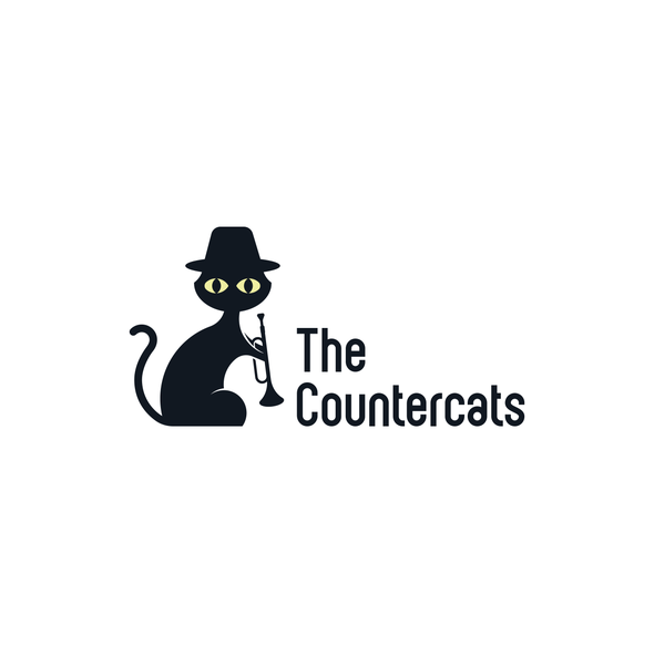 Trumpet logo with the title 'The Countercats Logo'