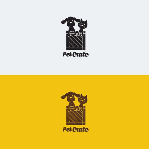 Pet shop design with the title 'Pet Crate'