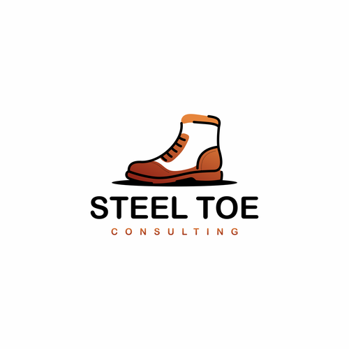 Boot logo with the title 'Steel Toe Consulting'