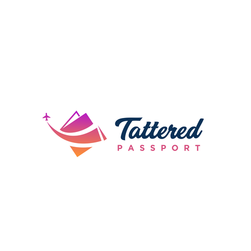 Traveling design with the title 'Tattered Passport Logo'