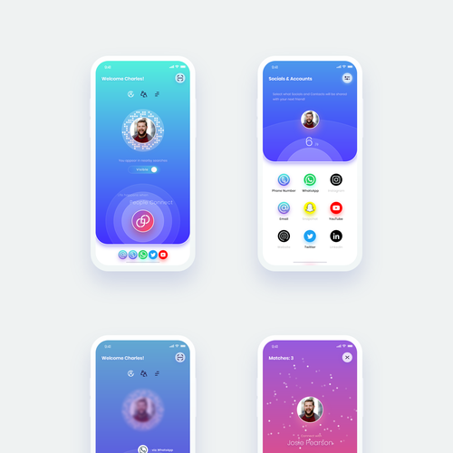 Exciting design with the title 'Social Connection Mobile App'