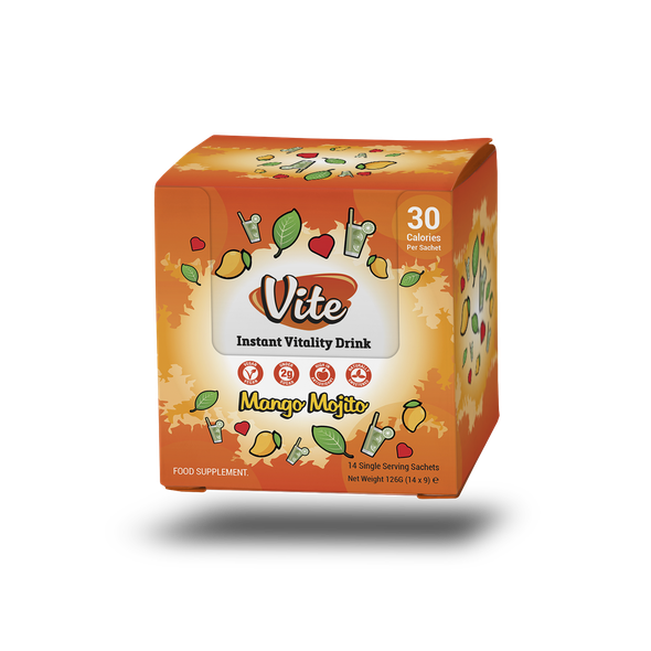 Unique packaging with the title 'Outter box Design for Vite Sachets '