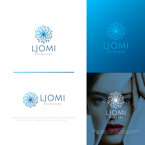 Premium logo with the title 'Modern logo for Ljomi skincare'